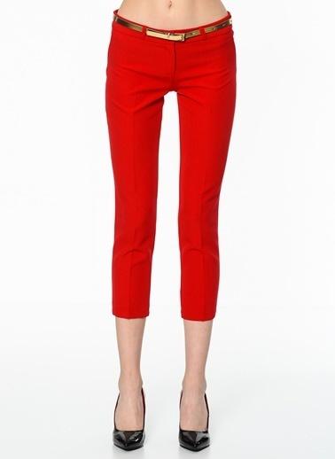 İroni Dar Paça Kumaş Pantolon Kırmızı